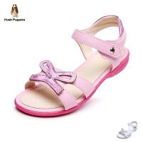 暇步士Hush Puppies童鞋甜美稚趣儿童凉鞋优雅女童时装鞋学生鞋夏款女孩休闲鞋