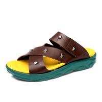 领舞者(lingwuzhe) 休闲时尚男士凉鞋 新款沙滩鞋潮流凉鞋