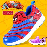 迪士尼儿童鞋毛毛虫男童鞋女童鞋2015秋款儿童运动鞋蜘蛛侠公主鞋