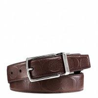 【当当自营】 蔻驰(COACH)新款男士C纹商务休闲腰带皮带 F55158