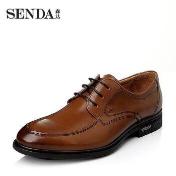 Senda/森达2016春季打蜡牛皮商务正装男皮鞋1DX24AM6