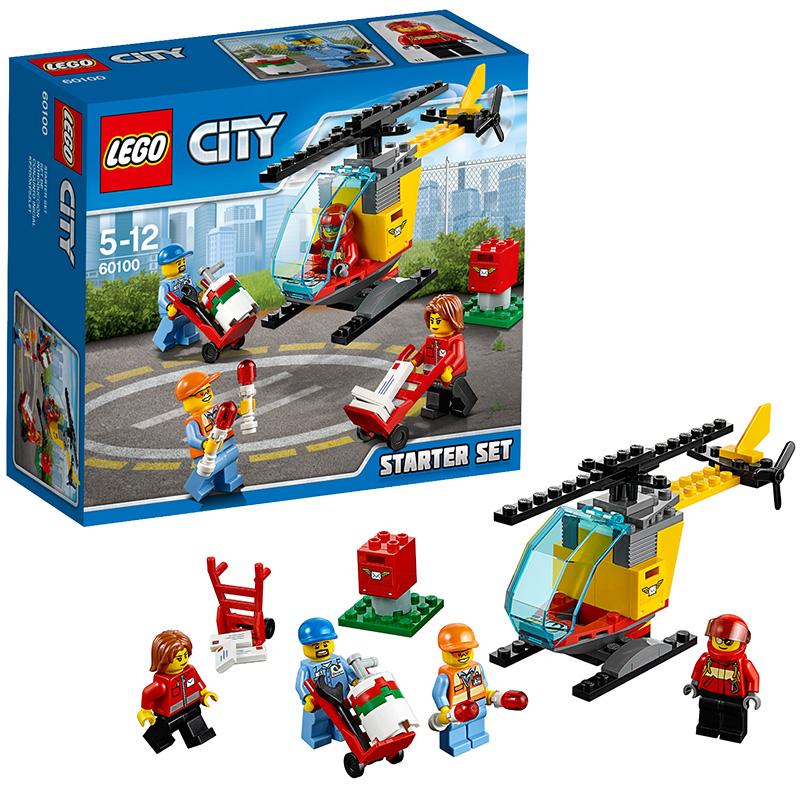 [当当自营]LEGO 乐高 City城市系列 机场入门套装 积木拼插儿童益智玩具60100【当当自营】适合5-12岁,81pcs小颗粒积木