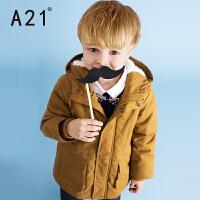 A21童装男童棉衣外套2016新款冬装加厚保暖棉袄中大童棉服中长款