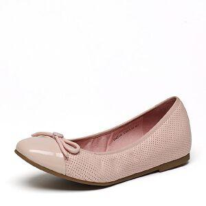 Belle/百丽2017春专柜同款甜美舒适绵羊皮革女单鞋BMF08AQ7
