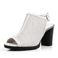 Belle/百丽春季专柜同款牛皮女凉鞋3Y438AL6  专柜2