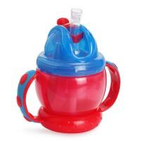 Nuby儿童 吸管杯 鸭嘴杯宝宝水杯喝水杯婴儿学饮杯饮水杯带手柄