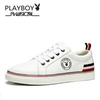 【顺丰包邮】花花公子真皮男士韩版运动休闲鞋潮流小白鞋白色学生鞋青年男板鞋DS65089HHGZ