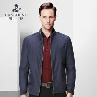 浪登春季新品 商务休闲夹克 纯色立领拉链男士夹克外套男K4065