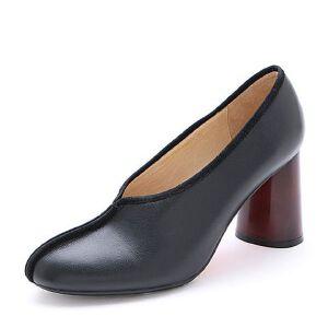 Belle/百丽2017春时尚奶奶鞋牛皮女单鞋16601AM7