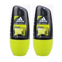 阿迪达斯adidas 男士走珠香水香体止汗露液滚珠50ml 两只装 荣耀走珠7536