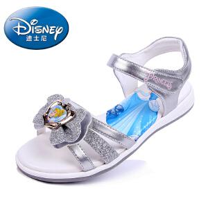 迪士尼童鞋2017夏季新款儿童凉鞋公主鞋儿童拖鞋时尚卡通女童夏季闪钻凉鞋 DP0035