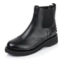 Tata/他她专柜同款小牛皮女短靴2DO40CD5