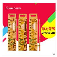 MARCO马可6001-12原木铅笔 安全无铅毒 马可铅笔学生铅笔12支装