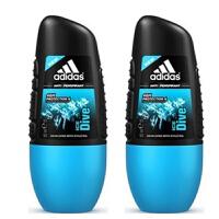 阿迪达斯adidas 男士走珠香水香体止汗露液滚珠50ml 两只装 冰点走珠0038