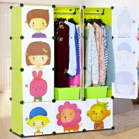 索尔诺组合式简易衣柜 儿童DIY组装衣橱折叠宜家收纳家居组合衣柜M4512