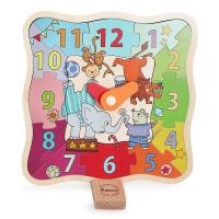 弥鹿MiDeer儿童时钟认知玩具木制幼儿智力拼图玩具木质2-3-6周岁