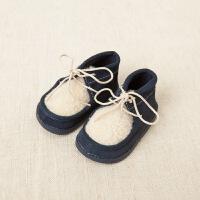 davebella  秋冬新款男女宝宝秋冬季保暖真皮软底皮鞋 新生婴儿学步鞋