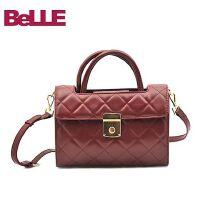Ist belle/百丽箱包专柜同款油蜡人造革背提包3486ZDX6