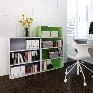 [当当自营]慧乐家 L60三层收纳柜 蓝+白色11241 书柜书架 储物收纳柜子