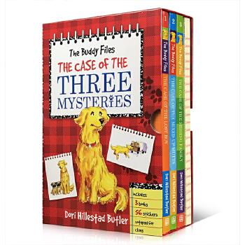 英文原版 The Buddy Files Boxed Set 1-3 好友档案系列三本盒装 儿童解谜故事书 锻炼思维 儿童桥梁书 章节书 内附贴纸