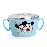 韩国爱婴小铺迪士尼儿童不锈钢宝宝辅食碗汤碗保温碗婴儿餐具带盖