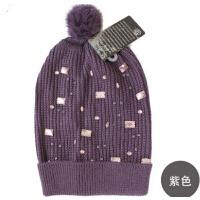 女士时尚可爱韩版毛线帽女冬帽冷帽  冬季女帽子针织帽