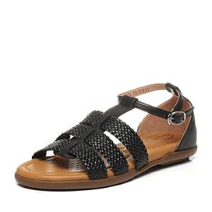 BATA/拔佳夏季专柜同款休闲舒适编织女凉鞋(超软)AK908BL6