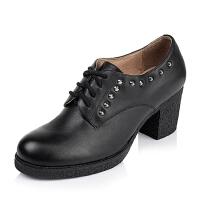 Tata/他她专柜同款小牛皮女单鞋2XD20CM5