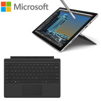 微软(Microsoft)Surface Pro 4 12.3英寸二合一平板笔记本电脑 Intel i7 8G/16G  256G/512G/1T硬盘 专业版银色官方标配
