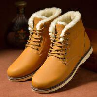 冬季新品2016新款棉鞋男加绒男士雪地靴男鞋休闲鞋防水加厚保暖马丁靴棉短靴子皮鞋子D17ASH