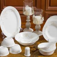 【当当自营】SKYTOP斯凯绨 碗盘碟碗筷陶瓷骨瓷餐具套装 30头冰清玉洁