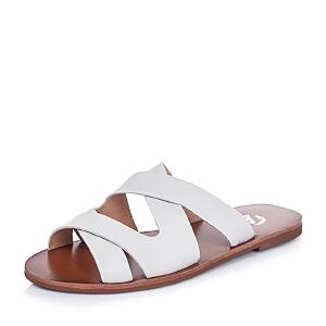 Bata/拔佳夏季牛皮简约时尚平跟女鞋AR903BT6