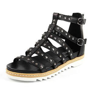 Teenmix/天美意夏季专柜同款牛皮女凉靴AN011BB6 专柜2