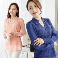 秋装女装大码打底衫女士韩版衬衣女长袖雪纺衫
