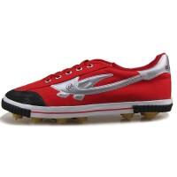 DOUBLE STAR/双星明星足男女足球鞋碎钉帆布足球鞋红明星中明星