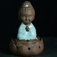 汝窑盘香炉 手工陶瓷 小如来 宗教风水工艺品 家居摆件