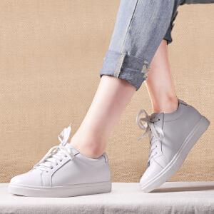 贝鸵优质头层牛皮软皮运动休闲鞋软底真皮单鞋女系带舒适文艺风0077