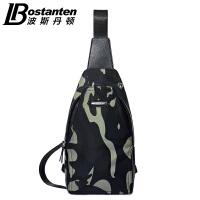 (可礼品卡支付)波斯丹顿新款男士斜挎胸包帆布单肩休闲男包迷彩背包运动骑行潮男B5163071