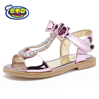 16.5cm~23cm巴布豆童鞋 女童凉鞋2016新款夏季女童鞋露趾学生凉鞋真皮公主鞋子