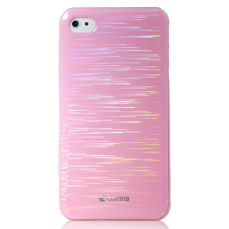 【当当自营】 comma珂玛 0498 iphone4&4s炫光背壳 粉色采用镭射激光