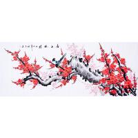 省美协会员 国画研究会会员 高级画师 张福生1.8米《喜上眉梢》