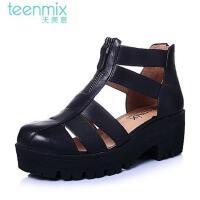 Teenmix/天美意年春夏季专柜同款女子牛皮女鞋6WA30AB5