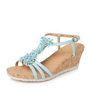 Belle/百丽夏季专柜同款绵羊皮革女凉鞋3RME7BL6