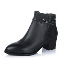 Bata/拔佳专柜同款油皮小牛皮女靴(防静电)AP740DD5