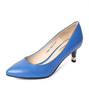 Belle/百丽春季专柜同款胎牛皮女单鞋3VDL7AQ6