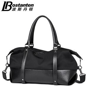 (可礼品卡支付)波斯丹顿新款男士手提包横款时尚韩版男包牛津布帆布包休闲单肩斜挎包B1164123