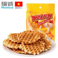 包邮越南进口 诺滋客 鸡蛋牛奶味煎饼270g/袋 休闲零食 饼干糕点