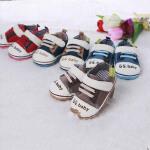 歌歌宝贝 婴儿鞋软底 防滑学步鞋 宝宝鞋 新生儿帆布鞋 初生鞋支持货到付款