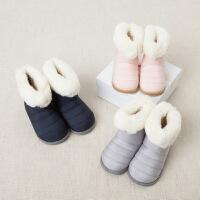 davebella男女宝宝冬季加绒保暖软底雪地靴 婴儿鞋 长筒靴