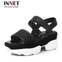 百丽旗下INNET/茵奈儿夏季-布女凉鞋INUQA14BL6